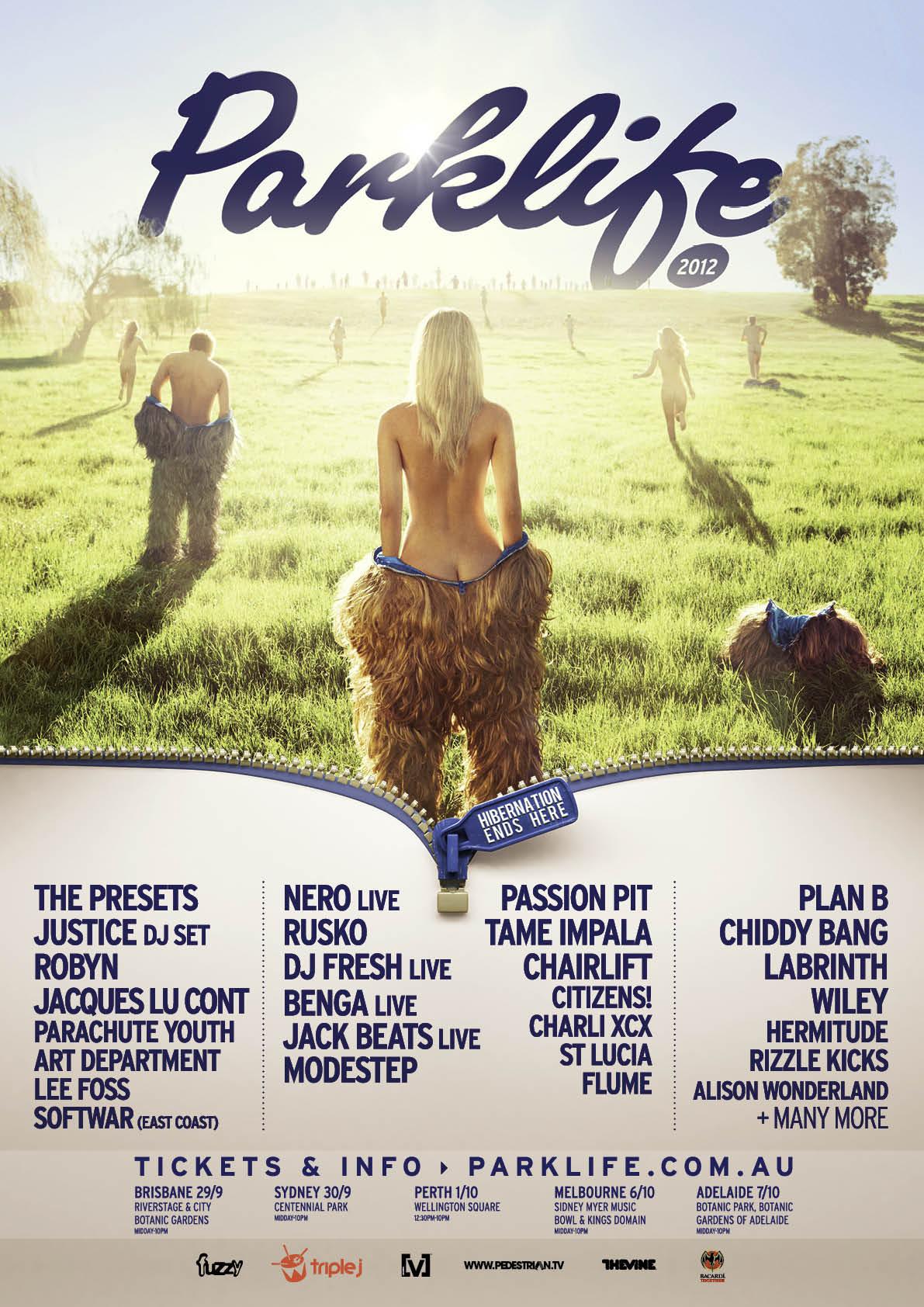 Parklife 2012 Poster